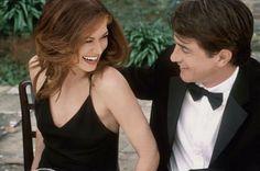 Still of Dermot Mulroney and Debra Messing in The Wedding Date (2005)