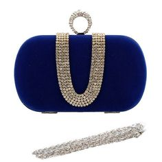 Royal Blue Suede Duster Knuckle Evening Clutch (€27) ❤ liked on Polyvore featuring bags, handbags, clutches, evening clutches, cocktail purse, royal blue purse, special occasion handbags and blue suede purse