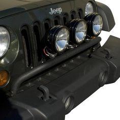 Bumper Mounted Light Bar, Textured Black; 07-16 Jeep Wrangler JK