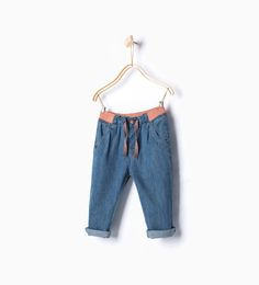 Jeans with waist detail