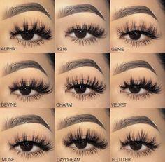 Eyelashes styles - Eye Makeup tips Fake Lashes, False Eyelashes, Lily Lashes, Eyelashes Grow, Best Lashes, Cluster Eyelashes, Natural Fake Eyelashes, 3d Mink Lashes, Eye Makeup