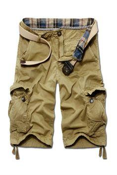 Men's Casual Cargo Shorts In Tan
