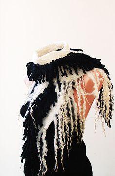 Handmade Nuno Felted Wool Scarf. Wool Wrap Scarf. by NataliyaMalik,