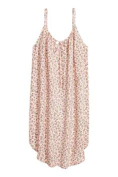 H&M Slip-style Dress - Powder pink/floral - Women World Of Fashion, Fashion Online, Powder Pink, Woven Fabric, Floral, Basic Tank Top, Short Dresses, Camisole Top, Fashion Dresses