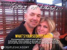 COUPLES ACADEMY ASKS, WHAT IS YOUR SECRET SAUCE? Love And Marriage, True Love, The Secret, Relationship, Good Things, Couples, Real Love, Relationships, Couple