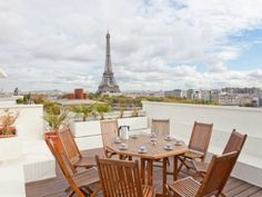 This superb apartment offers incredible views of Paris & the Eiffel Tower.