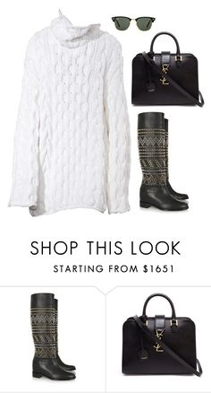 """Senza titolo #5046"" by marcellamic ❤ liked on Polyvore featuring Christian Louboutin, Yves Saint Laurent and Ray-Ban"