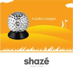 If you're a golf enthusiast through and through, this incredibly realistic Silver Golf Ball Paperweight is the perfect way to showcase your love for the game.   It is aesthetically appealing and will certainly add a lot of character to your desk.    View our Office Collection at www.shaze.in