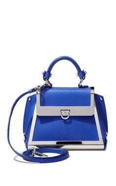 Sofia Mini Sofia In Bright Blue by Ferragamo for Preorder on Moda Operandi