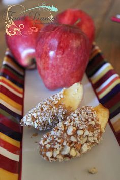 Making this with apples, honey and walnuts. Or keep it as a whole apple dip in honey and roll in nuts for a healthy candy apple