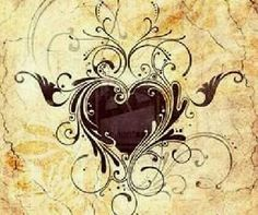 I would probably never get a heart tattoo but this is nice...Filigree heart tattoo