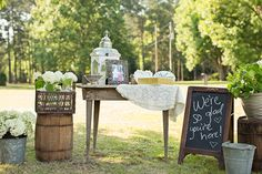 Loads of Vintage Decor! | J&J Photography | Classic Southern Ivory and Gold Wedding