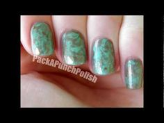 How To Marble Nails Using Plastic Wrap Nail Art Tutorial