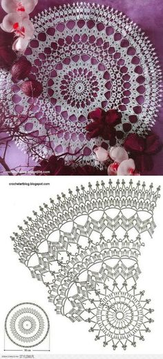 30 ideas crochet lace chart doily patterns for 2019 Free Crochet Doily Patterns, Crochet Doily Diagram, Crochet Mandala, Crochet Motif, Free Pattern, Mandala Rug, Crochet Dreamcatcher Pattern, Crochet Coaster, Doily Rug