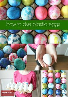How to Dye Plastic Eggs - these eggs are at Walmart for $2 a dozen and you can decorate them just like real eggs! And then keep them forever :) I plan to buy a few dozen and let each kid decorate a couple each year to save and display as they grow.