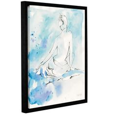 ArtWall Dusty Knight's 'Evening Repose I' Gallery Wrapped Floater-framed