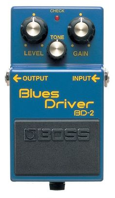 Boss BD-2 Blues Driver Pedal  I'm looking for different kinds of distortion and overdrive pedals I can get on the cheap, so as to be able to mix and match stuff to get a broader sounic pallet. The Blues driver is something of a classic AND I'm seeing around used for about $50