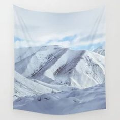 Snow Mountains Winter Wall Tapestry Tapestry Bedroom, Tapestry Wall Hanging, New Zealand Landscape, Photography Filters, Society 6 Tapestry, Snow Mountain, Forest Landscape, Vivid Colors, Picnic Blanket