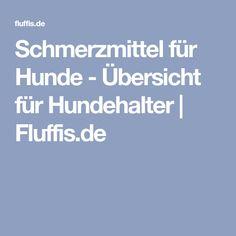 Schmerzmittel für Hunde - Übersicht für Hundehalter | Fluffis.de