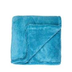 Debenhams Aqua fleece throw- at Debenhams.com