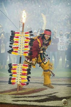 Chief Osceola only gets off Renegade to plant the spear when we play UF. It is a Seminole tradition that symbolizes a true war is about to happen.