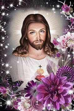 Jesus And Mary Pictures, Pictures Of Jesus Christ, Religious Pictures, Jesus Tattoo, Jesus Our Savior, God Jesus, Jesus Christ Painting, Image Jesus, Jesus E Maria