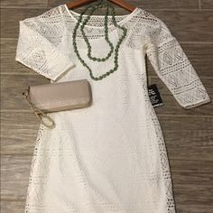 Express White Cocktail Dress Super fun, lightweight dress perfect for any party or sunny day! Express Dresses
