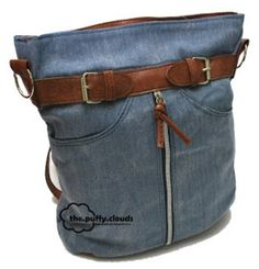 Jean bag. I've already made a pillow, I could do this :)