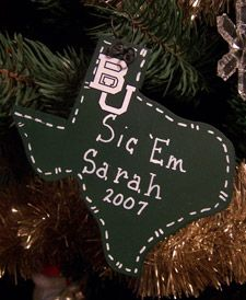 Photo gallery of #Baylor Christmas ornaments!
