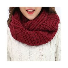 Chic Solid Color Stripy Knitted Infinity Chunky Scarf For Women ($8.68) ❤ liked on Polyvore featuring accessories, scarves, chunky infinity scarves, infinity scarves, infinity shawl and chunky scarves