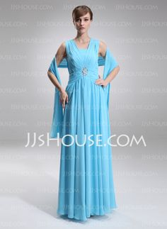 Mother of the Bride Dresses - $128.99 - A-Line/Princess Square Neckline Floor-Length Chiffon Mother of the Bride Dress With Ruffle Beading (008005707) http://jjshouse.com/A-Line-Princess-Square-Neckline-Floor-Length-Chiffon-Mother-Of-The-Bride-Dress-With-Ruffle-Beading-008005707-g5707