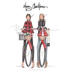 These two are also available as an oversized gift tag, notecards, and greeting cards ❤️ Christmas Sketch, Christmas Images, Merry Christmas, Christmas Holidays, Fashion Sketches, Fashion Illustrations, Become A Fashion Designer, Holiday Wallpaper, Falling Stars