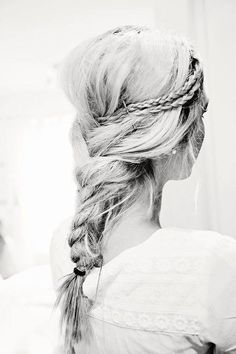 braided Hairstyle for summer: Messy Braids