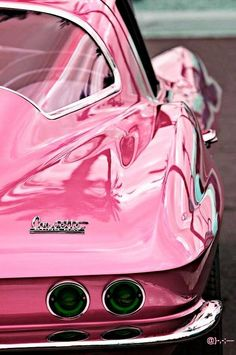 pink corvette @}-,-;--  i see my friend Aileen Rosales with this car when she is a cute old lady lol