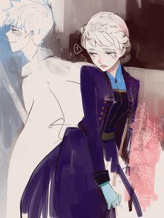 {Jack x Elsa} by sanaplus.deviantart.com on @DeviantArt