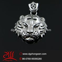 316l stainless steel custom tiger head pendant