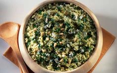 Mary Berry's latest rice recipe is a Risotto Al Verde - or green risotto - from Italy is a three-in-one recipe that allows you to choose which flavour risotto you want for your meal depending on your mood and who you are cooking for.  Add pesto as a quick mid-week meal with the kids, blue cheese and pine nuts for an indulgent night in on the sofa or mushroom and asparagus for a dinner party with friends.   It's up to you but Mary Berry has provided all the tips and tricks on how to ma...