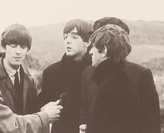 Paul McCartney john lennon ringo starr george harrison The Beatles gif