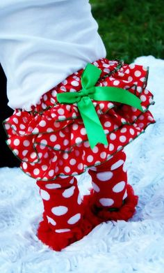 Red and White Polka Dot Christmas Bloomers by southernbelle972, $14.00