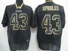 Saints #43 Darren Sproles Lights Out Black Embroidered NFL Jersey! Only $21.50USD