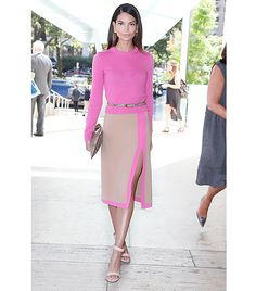 "@Who What Wear - On how she pulls off being a lady that lunches: ""I was going to a luncheon for Michael Kors and this was so ladylike but still youthful, which is a tough note to hit."""