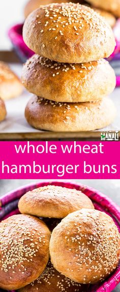 Homemade Whole Wheat Hamburger Buns are perfect for the grilling season. They are so much better and healthier than store bought! Whole Wheat Hamburger Buns {Homemade for Summer Sandwiches} via @tastesoflizzyt