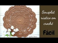 Free Crochet Doily Patterns, Crochet Doilies, Knit Crochet, Plate Mat, Crochet Kitchen, Coasters, Mandala, Make It Yourself, Knitting