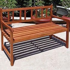 Banco de madera para jard n muebles de casa jard n - Bancos de terraza ...