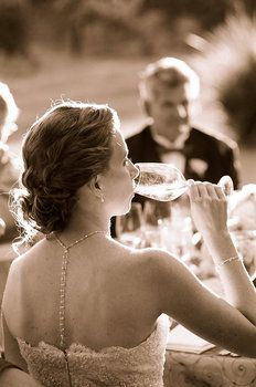 Wedding, Hair, Updo, Chignon, Jewelry, Curly, Necklace, Wine