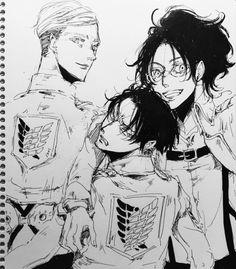 Erwin, Hanji and Levi