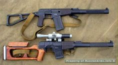 VSS Vintorez integrally suppressed assault and sniper rifles.