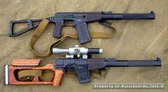 VSS Vintorez & VS VAL integrally suppressed assault/sniper rifles.