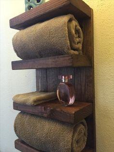 rustic pallet towel rack