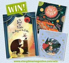 Storytime runs a kids competition each month where you can our brilliant Books of the Month and more! Enter today to be in with a chance of winning. Competitions For Kids, Story Time, Piano, Stuff To Do, Moon, Train, Bear, Space, Illustration
